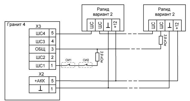 Схема подключения охранных
