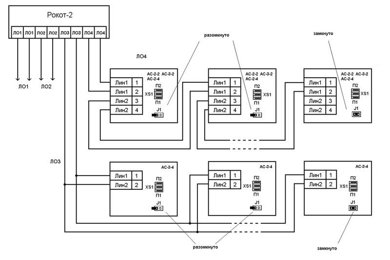 Схема подключения акустических